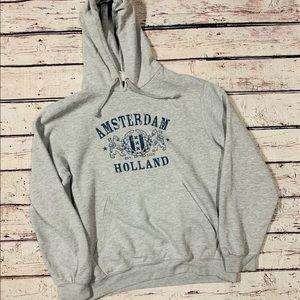 Tops - Unisex Amsterdam holland crest hoodie large
